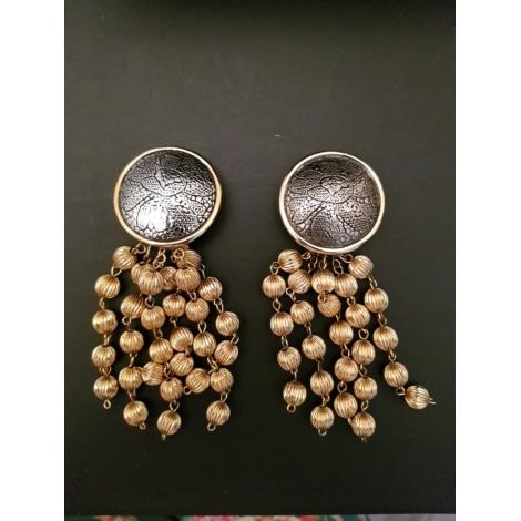 Boucles d'oreille ROCHAS Doré, bronze, cuivre