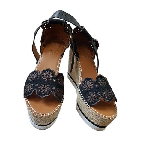 Sandales compensées SEE BY CHLOE Noir