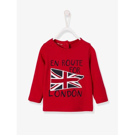 Top, tee shirt VERTBAUDET Rouge, bordeaux