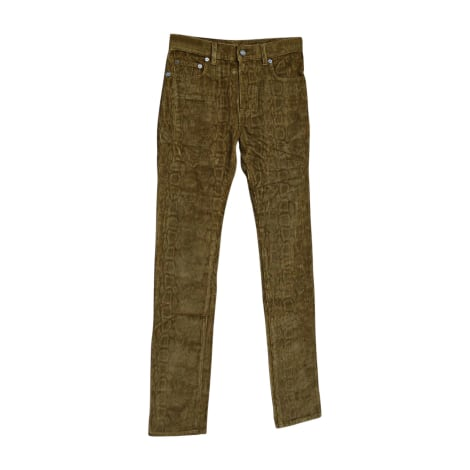 Pantalon slim SAINT LAURENT Marron