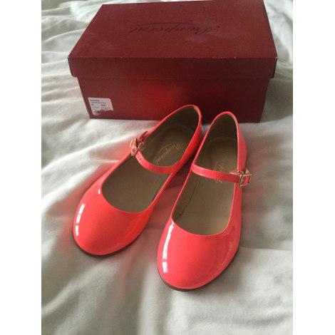 Chaussures à boucle BONPOINT Rose, fuschia, vieux rose