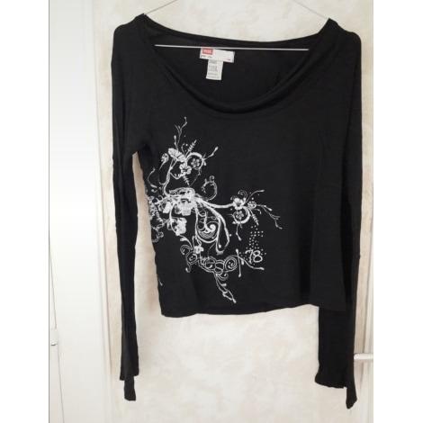 Top, tee-shirt DIESEL Noir