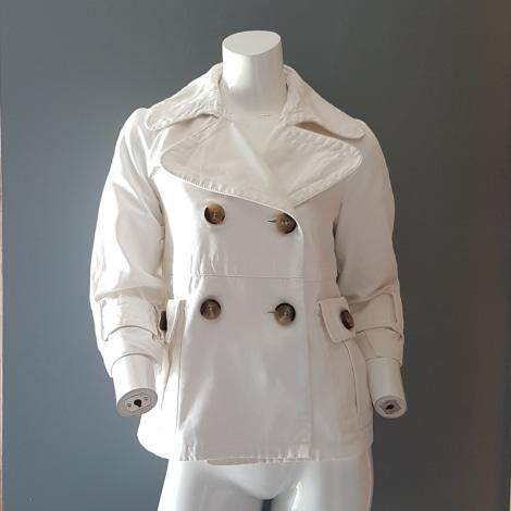 Imperméable, trench ZARA Blanc, blanc cassé, écru