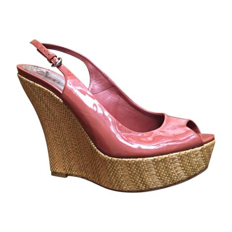 Sandales compensées GUCCI Rose, fuschia, vieux rose