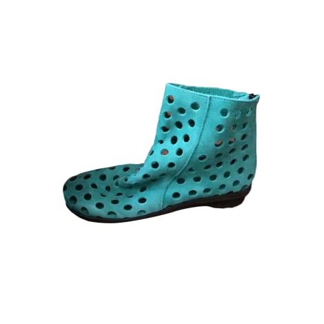 Bottines & low boots plates ARCHE Vert