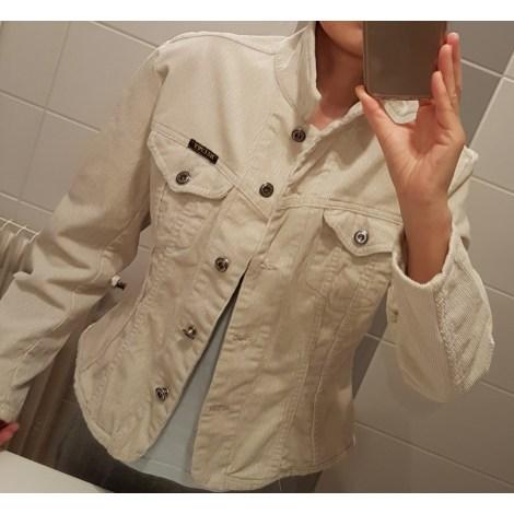 Veste en jean MARQUE INCONNUE Blanc, blanc cassé, écru