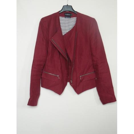 Blazer, veste tailleur CAROLL Rouge, bordeaux