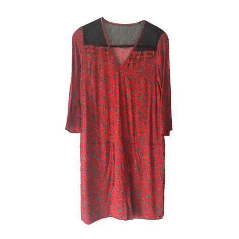 Robe mi-longue IKKS Rouge, bordeaux