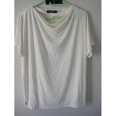 Top, tee-shirt RALPH LAUREN Blanc, blanc cassé, écru