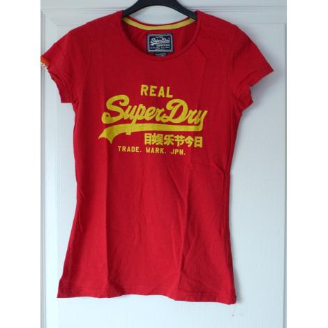 Top, tee-shirt SUPERDRY Rouge, bordeaux