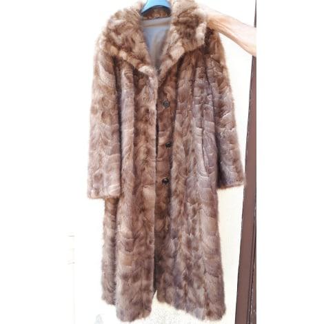 Manteau en fourrure MARQUE INCONNUE Marron