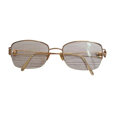 Monture de lunettes VERSACE Doré, bronze, cuivre