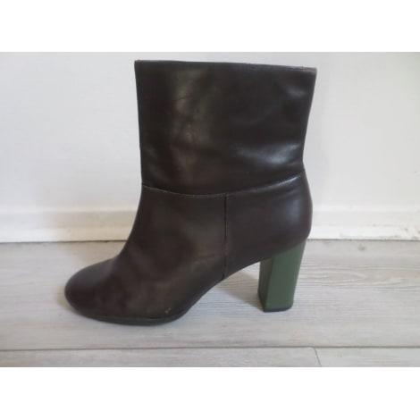 High Heel Ankle Boots CAMPER Brown