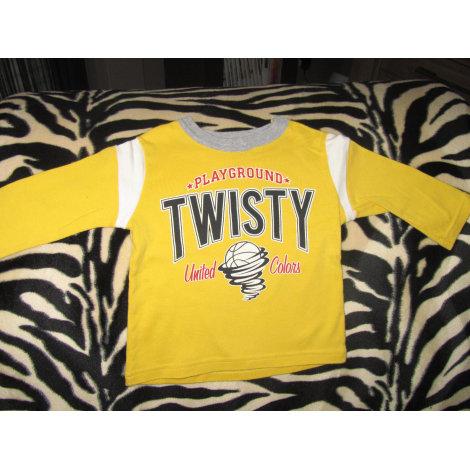 Top, tee shirt BENETTON BABY Jaune
