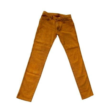 Pantalon slim, cigarette BEL AIR Jaune