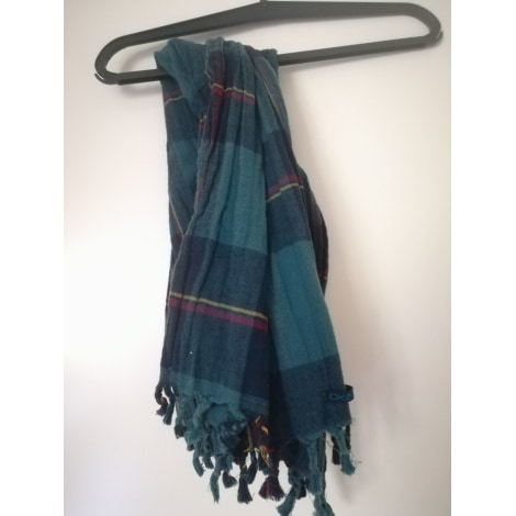 Silk Scarf OKAÏDI Blue, navy, turquoise