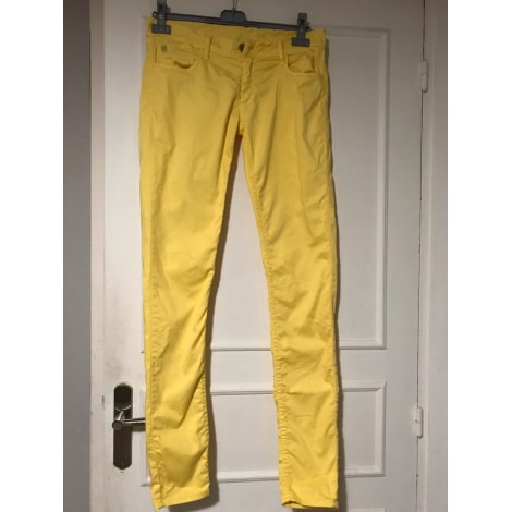 Jeans droit LE TEMPS DES CERISES Jaune