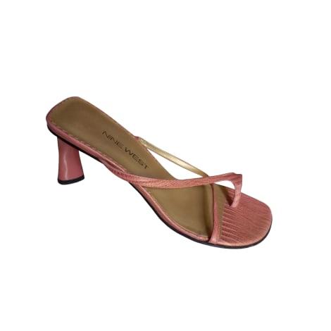 Sandales à talons NINE WEST Rose, fuschia, vieux rose