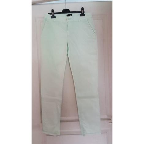 Pantalon droit BLEU 123 Vert