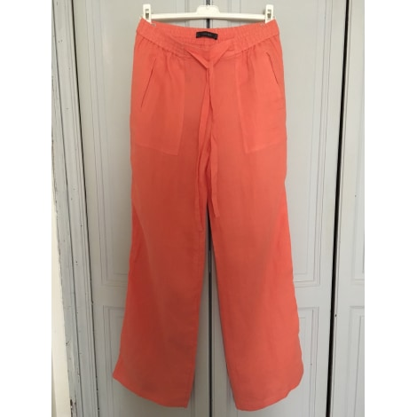 Pantalon large ZARA Orange