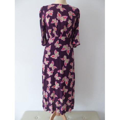 Robe mi-longue MANGO Violet, mauve, lavande