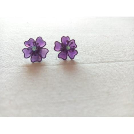 Earrings MARQUE INCONNUE Purple, mauve, lavender
