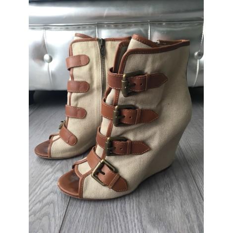 Bottines & low boots à compensés ASH Beige, camel