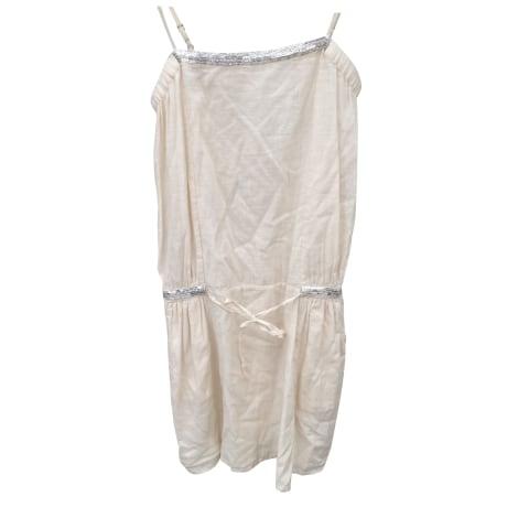 Robe courte DES PETITS HAUTS Blanc, blanc cassé, écru