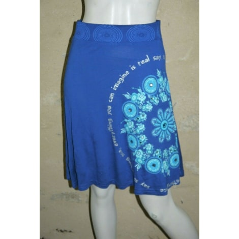 Jupe mi-longue DESIGUAL Bleu, bleu marine, bleu turquoise