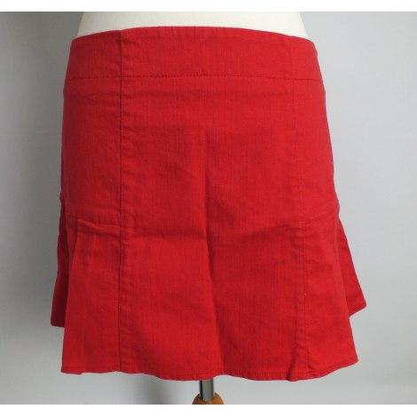 Jupe courte CAMAIEU Rouge, bordeaux