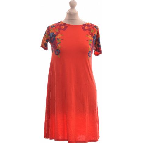 Robe courte DESIGUAL Rouge, bordeaux