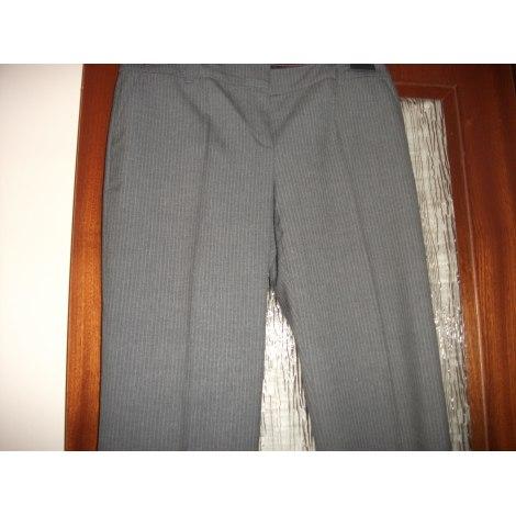 Pantalon évasé ALAIN MANOUKIAN Gris, anthracite