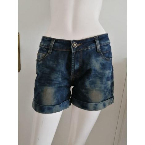 Short en jean MARQUE INCONNUE Bleu, bleu marine, bleu turquoise
