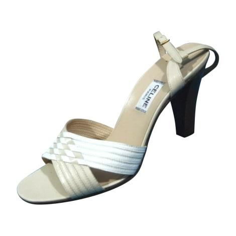 Sandales à talons CÉLINE Beige, camel