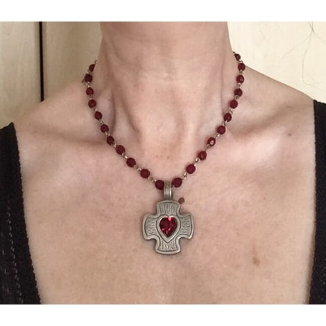 Pendentif, collier pendentif AGATHA Rouge, bordeaux