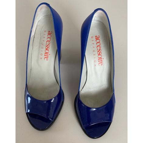 Escarpins à bouts ouverts ACCESSOIRE DIFFUSION Bleu, bleu marine, bleu turquoise