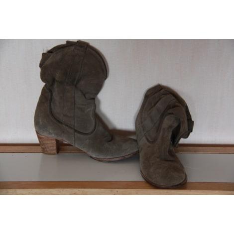 Bottines & low boots à talons ZARA Kaki