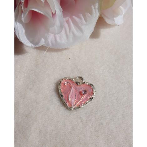 Pendentif, collier pendentif NO COLLECTION Rose, fuschia, vieux rose