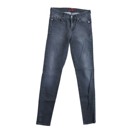 Jeans slim 7 FOR ALL MANKIND Gris, anthracite