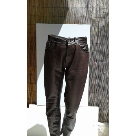 Pantalon droit REDSKINS Marron