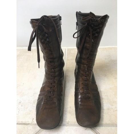 Bottines & low boots plates DAVIS TESTA Marron