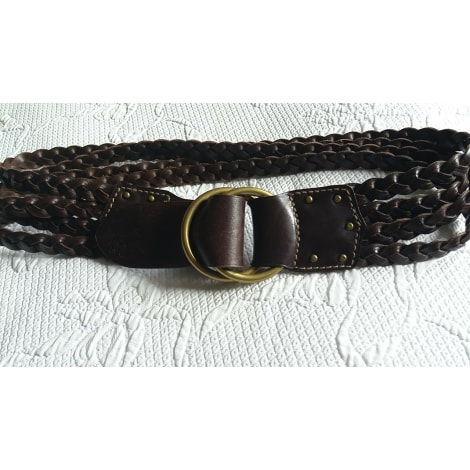 Ceinture large RALPH LAUREN Marron