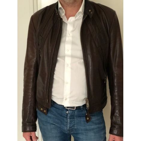 Blouson en cuir DSQUARED2 Marron