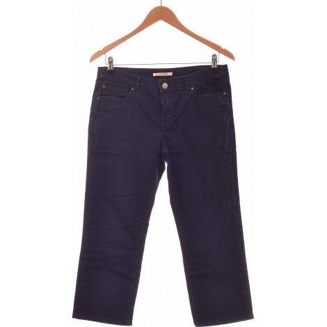 Jeans droit CAMAIEU Bleu, bleu marine, bleu turquoise