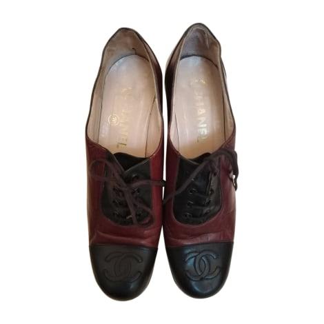 Lace Up Shoes CHANEL marron et noir
