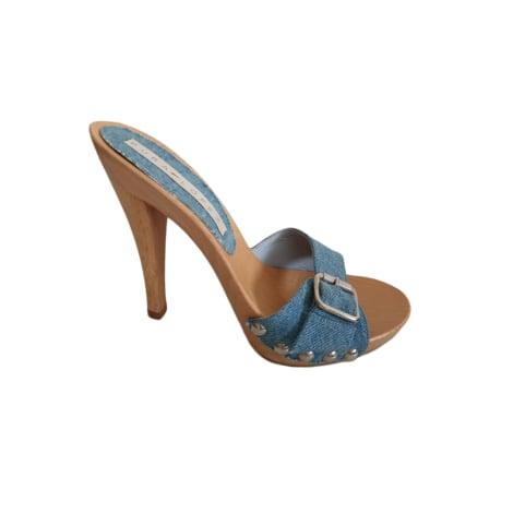 Sabots PURA LOPEZ Bleu, bleu marine, bleu turquoise