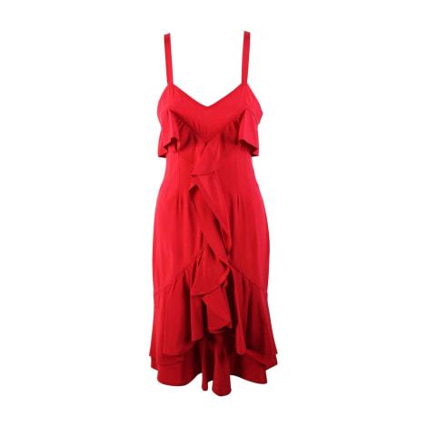 Robe mi-longue YVES SAINT LAURENT Rouge, bordeaux
