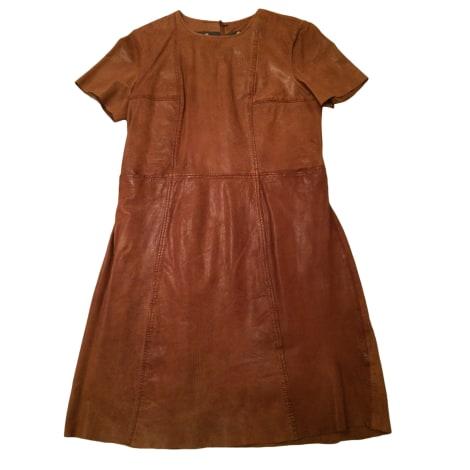 Robe courte SWILDENS Beige, camel