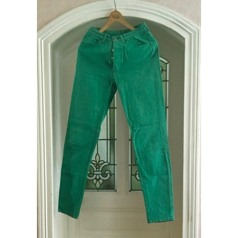 Jeans slim CUSTER Vert