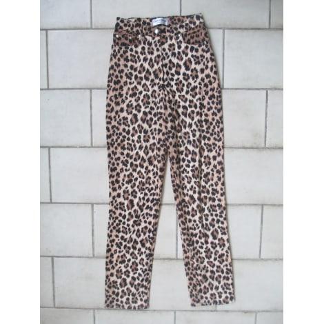 Pantalon droit COTTONADE Imprimés animaliers